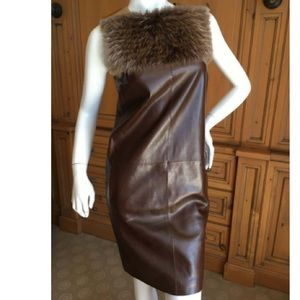 Gucci Brown Leather dress